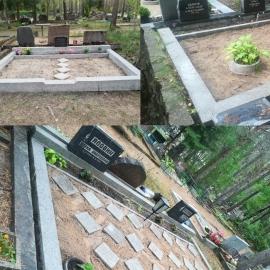 ( Rahumäe Kalmistu) 3 H.K. Hauapiirdete puhastamine