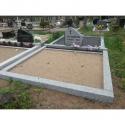 2 kohta - ilma vundamendita- lihvitud betoonist hauapiirded