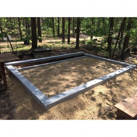 3 kohta - ilma vundamendita- lihvitud betoonist hauapiirded